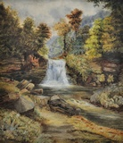 Waterfall in an Upland Landscape